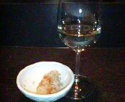 白ワインと思いきや。